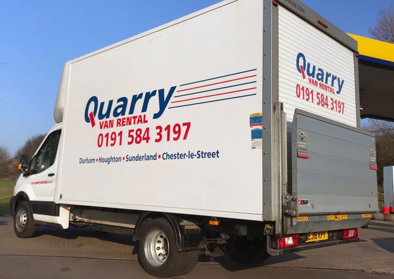 Quarry Van Rental - Merc Ford Tail lift